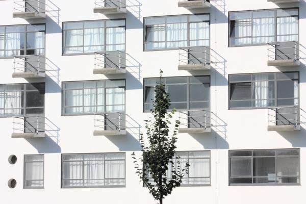 Architektur, Bauhaus, Dessau, Prellerhaus Ateliergebäude, verwendet in|Kalender 2010, Walter Gropius