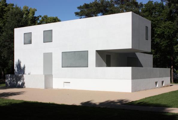 Bauhaus, Dessau, Meisterhäuser, Moderne, Walter Gropius, weiß