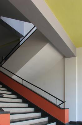 Architektur, Bauhaus, Dessau, farbig, grafisch, Kalender 2008, Moderne, verwendet in, Walter Gropius
