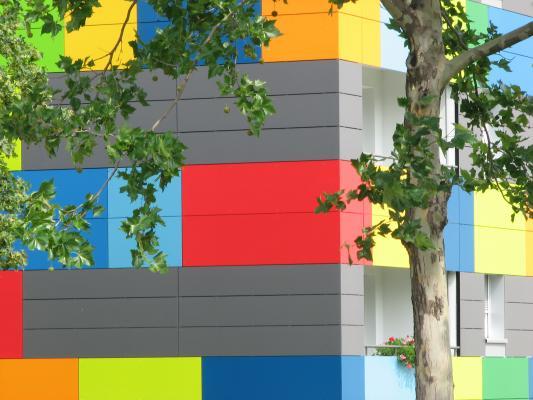 Altstadt, Architektur, Dresden, farbig, grafisch, Kalender 2008, verwendet in