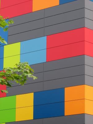 Dresden, farbig, Architektur, Altstadt, grafisch