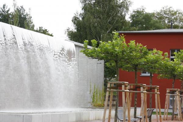 Architektur, Dresden, Strömungsmaschinen, Wasser, Wasserfall