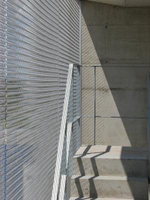 Aluminium, Architektur, Edelstahl, Feuerwache, Gitter, Metall, Radebeul, Turm