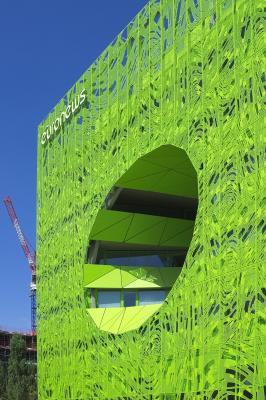 Architektur, Confluence, Frankreich, grün, Lyon, Rhone
