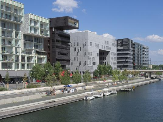 Architektur, Confluence, Frankreich, Lyon, Rhone, Saône