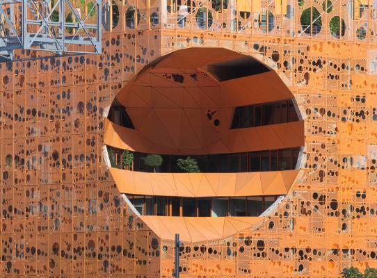 Architektur, Confluence, Frankreich, Lyon, orange, Rhone