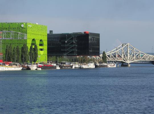 Architektur, Confluence, Frankreich, grün, Lyon, Rhone, Saône, schwarz