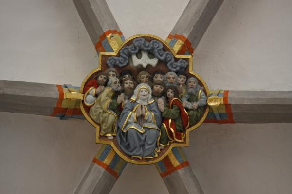 Altstadt, Architektur, Dachstuhl, farbig, Görlitz, Holz, Oberlausitz, Peterskirche, Schlesien
