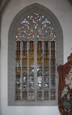 Altstadt, Architektur, farbig, Fenster, Görlitz, Oberlausitz, Peterskirche, Schlesien
