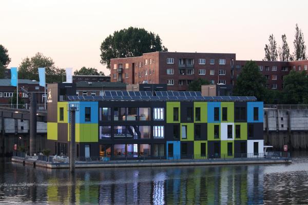 farbig, Hafen, Hamburg, IBA, Nacht