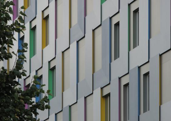 Karlsruhe, Architektur, Urlaub, Karlsruhe, 21. Jh, farbig, grafisch