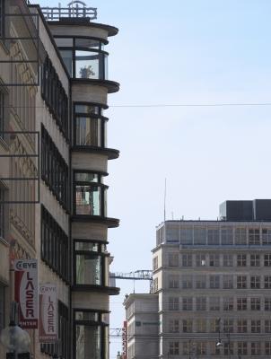 Architektur, Breslau Wroclaw, Erich Mendelsohn, Kaufhaus Rudolf Petersdorff, Erich Mendelsohn, 1927-1928, Moderne, Polen, Städtische Sparkasse, Heinrich Rump, 1930-1932