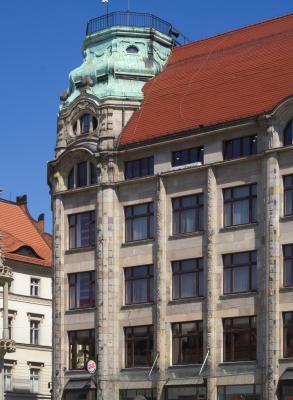 Architektur, Breslau Wroclaw, Moderne, Polen, Warenhaus Gebrüder Barasch, Georg Schneider, 1904
